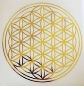 Sticker Flower of Life - Bloem des Levens - Levensbloem - 4,5 cm