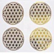 Sticker Flower of Life - Bloem des Levens - Levensbloem - 4 stickers van 3 cm