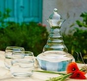 Vitaalwaterkaraf Alladin Bloem des Levens - Levensbloem - Happy meer kleuren -  Flower of Life