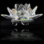 Kristallen Lotus - 5 cm glas feng shui
