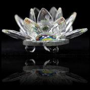 Kristallen Lotus - 7 cm glas feng shui