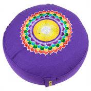 Meditatiekussen: chakra 7 Sahasrara violet
