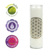 Geurkaars stearine wit Flower of Life - Levensbloem