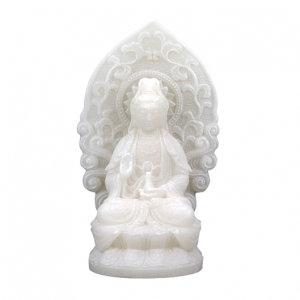 Quan Yin - Kwan Yin - beeldje wit