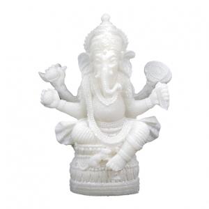 Ganesh beeldje - wit